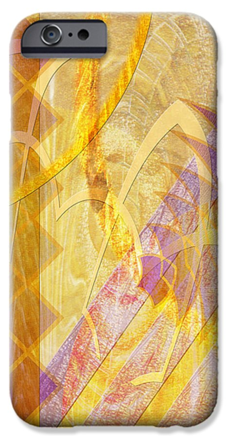 Gold Fusion IPhone 6 Case featuring the digital art Gold Fusion by John Beck