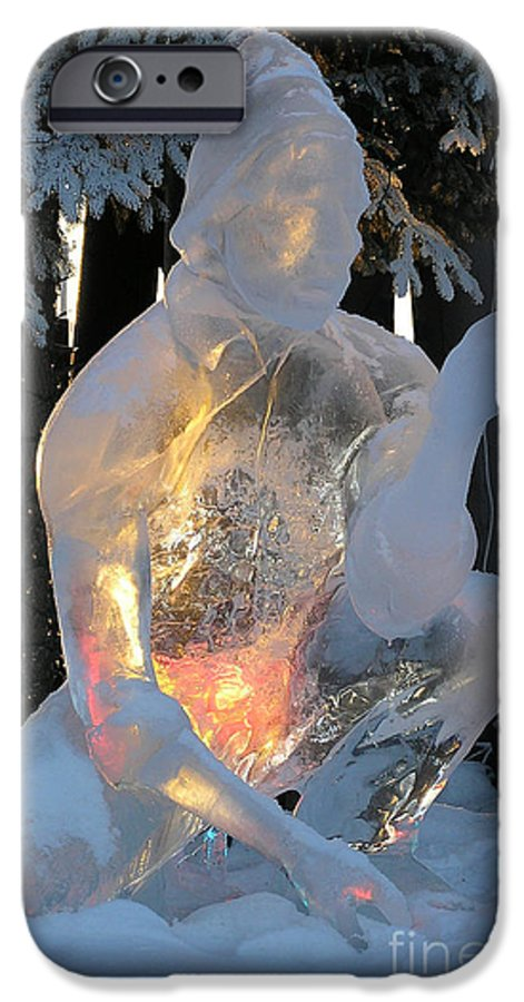 Ice Sculpture IPhone 6 Case featuring the photograph Gold Miner by Louise Magno