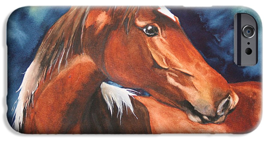 Horse IPhone 6 Case featuring the painting Golden Boy by Jean Blackmer