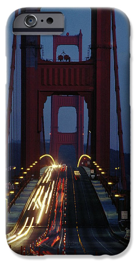 Evening IPhone 6 Case featuring the photograph Golden Gate Bridge by Carl Purcell