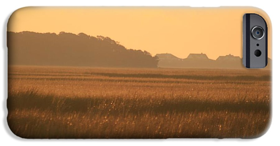 Marsh IPhone 6 Case featuring the photograph Golden Marshes by Nadine Rippelmeyer