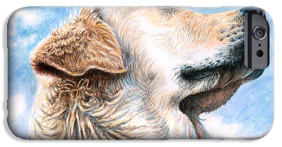 Dog IPhone 6 Case featuring the painting Golden Retriever by Nicole Zeug