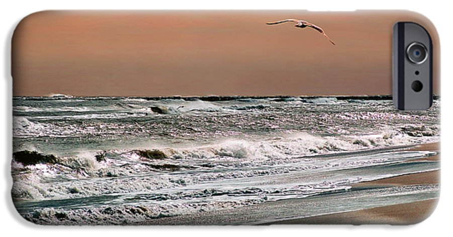 Seascape IPhone 6 Case featuring the photograph Golden Shore by Steve Karol