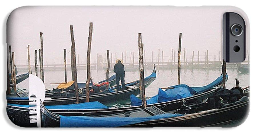 Landscape IPhone 6 Case featuring the photograph Gondolas by Kathy Schumann