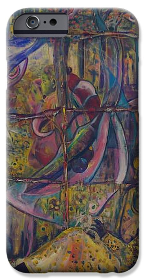 Mother IPhone 6 Case featuring the painting Goodbye Sweet Dreams by Peggy Blood