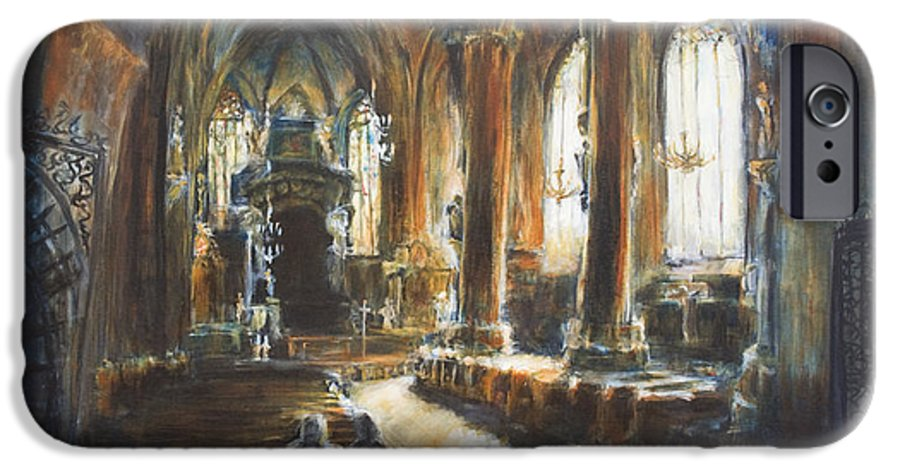 Church IPhone 6 Case featuring the painting Gothic Church by Nik Helbig