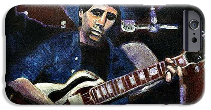 Shining Guitar IPhone 6 Case featuring the painting Graceland Tribute To Paul Simon by Seth Weaver