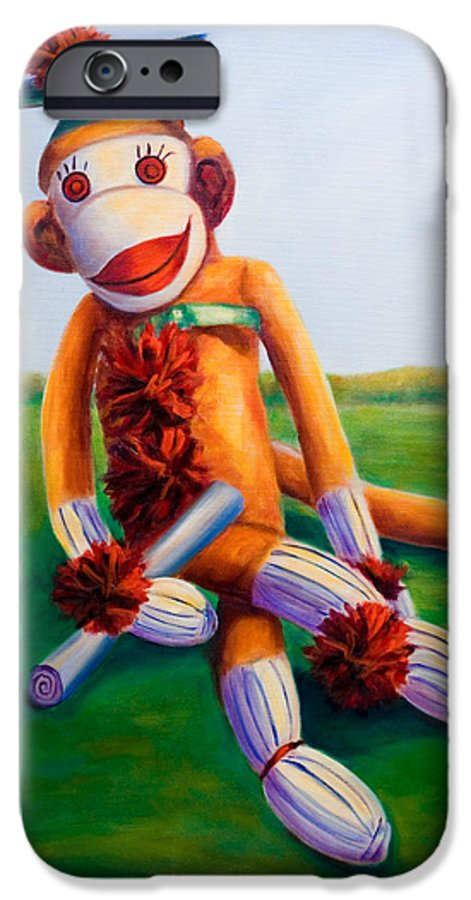 Graduation IPhone 6 Case featuring the painting Graduate Made Of Sockies by Shannon Grissom