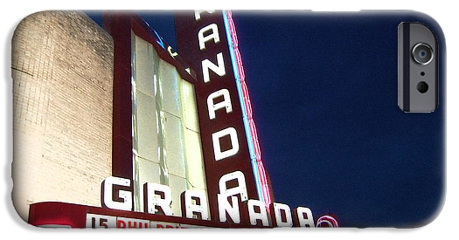 Music IPhone 6 Case featuring the photograph Granada Theater by Debbi Granruth