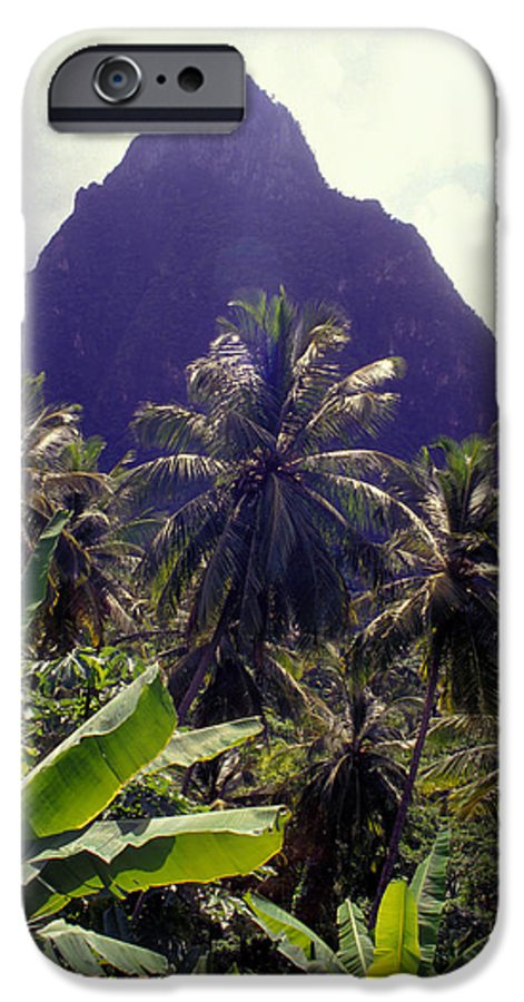 Caribbean IPhone 6 Case featuring the photograph Grand Piton by Carl Purcell