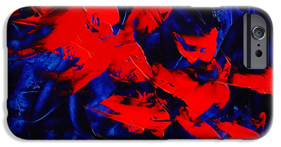 Abstract IPhone 6 Case featuring the painting Grandma II by Dean Triolo