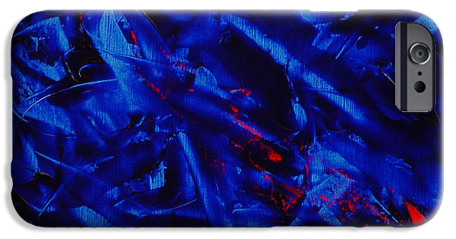 Abstract IPhone 6 Case featuring the painting Grandma IIi by Dean Triolo
