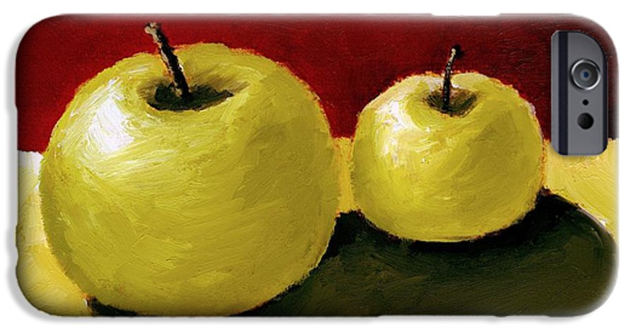 Apple IPhone 6 Case featuring the painting Granny Smith Apples by Michelle Calkins