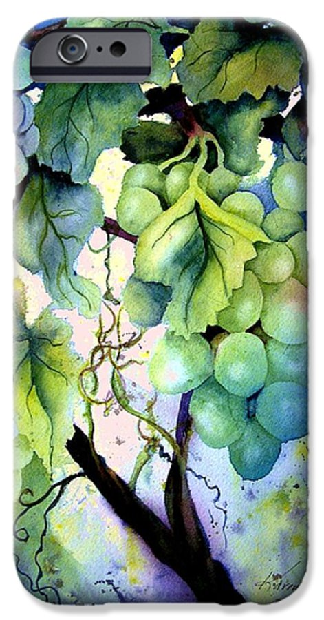 Grapes IPhone 6 Case featuring the painting Grapes II by Karen Stark