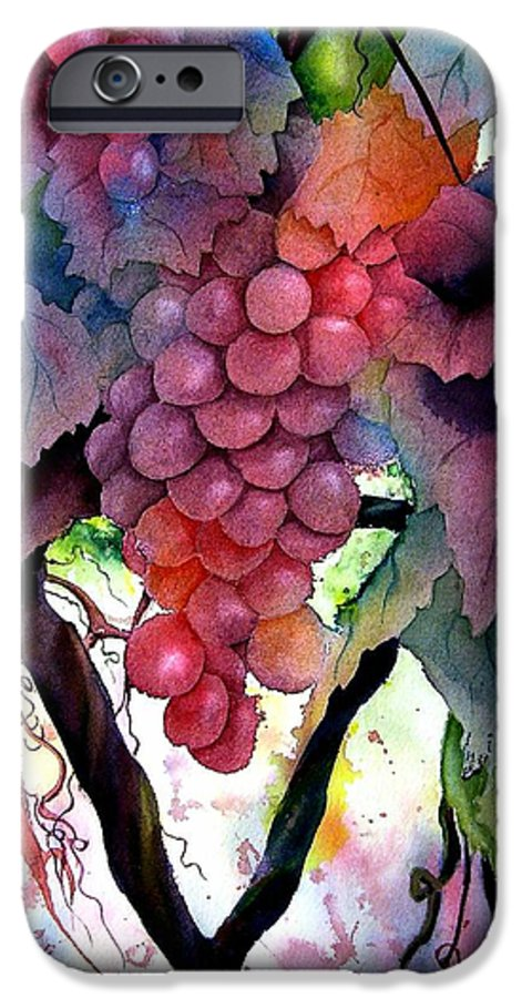 Grape IPhone 6 Case featuring the painting Grapes IIi by Karen Stark