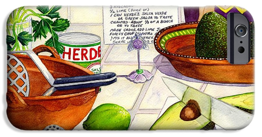 Guacamole IPhone 6 Case featuring the painting Great Guac. by Catherine G McElroy