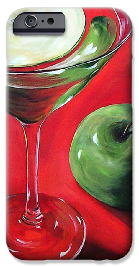 Martini IPhone 6 Case featuring the painting Green Apple Martini by Torrie Smiley