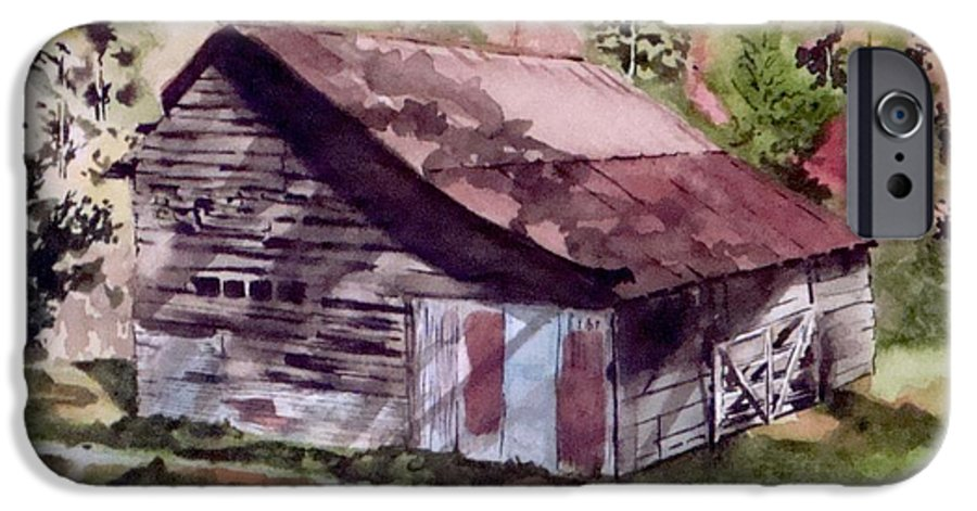 Barns IPhone 6 Case featuring the painting Green Creek Barn by Jean Blackmer