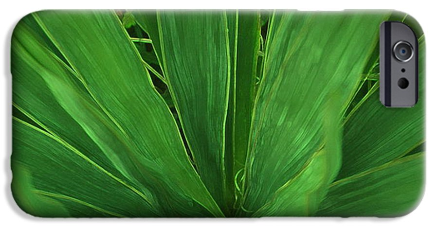Green Plant IPhone 6 Case featuring the photograph Green Glow by Linda Sannuti