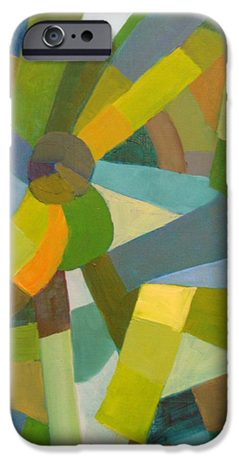 Green IPhone 6 Case featuring the painting Green Pallette by Art Nomad Sandra Hansen
