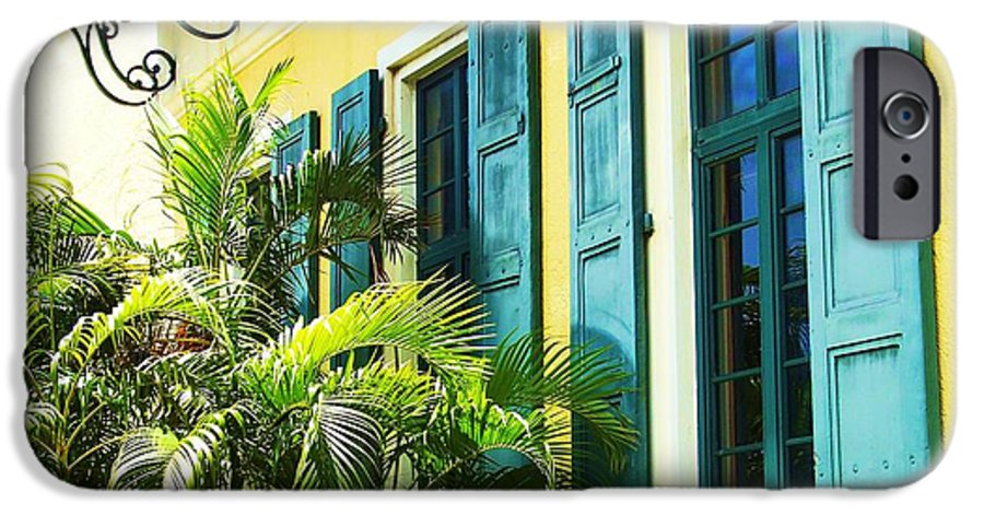Architecture IPhone 6 Case featuring the photograph Green Shutters by Debbi Granruth