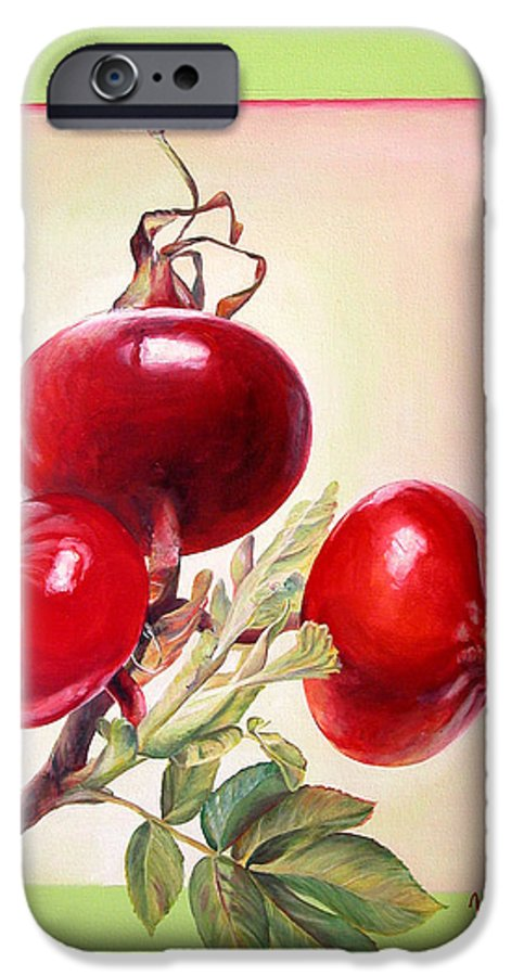 Still Life IPhone 6 Case featuring the painting Grenadine by Muriel Dolemieux