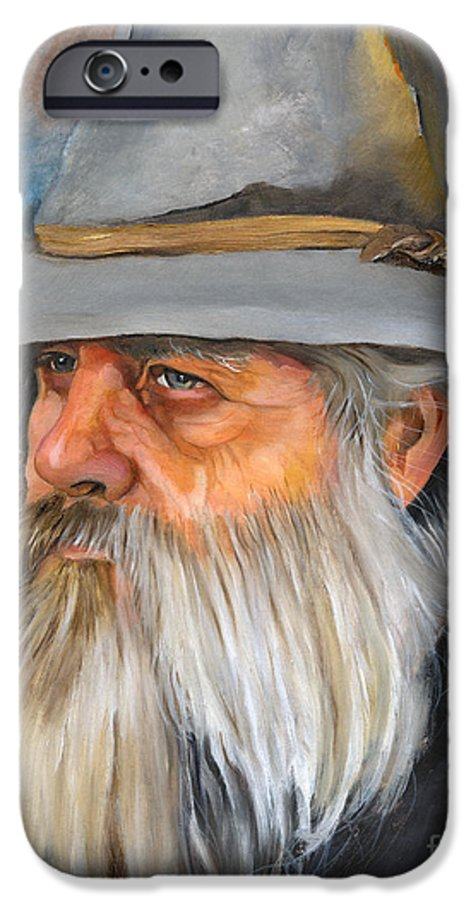 Wizard IPhone 6 Case featuring the painting Grey Days by J W Baker