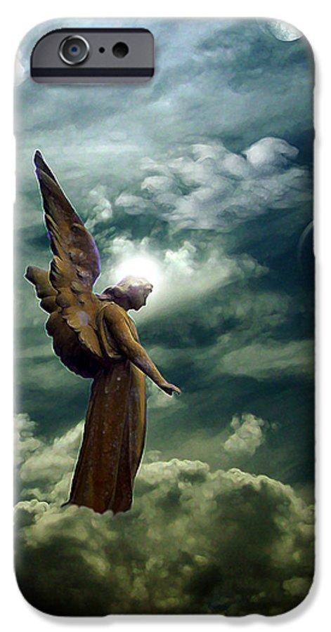 Sky IPhone 6 Case featuring the digital art Guardian Angel by Ruben Flanagan