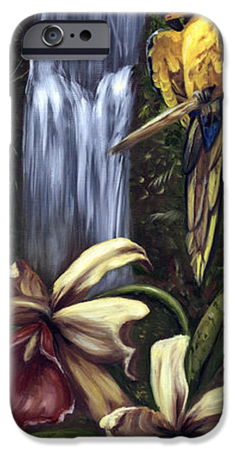 Birds IPhone 6 Case featuring the painting Guardian Of The Falls by Anne Kushnick