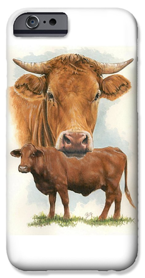 Cow IPhone 6 Case featuring the mixed media Guernsey by Barbara Keith