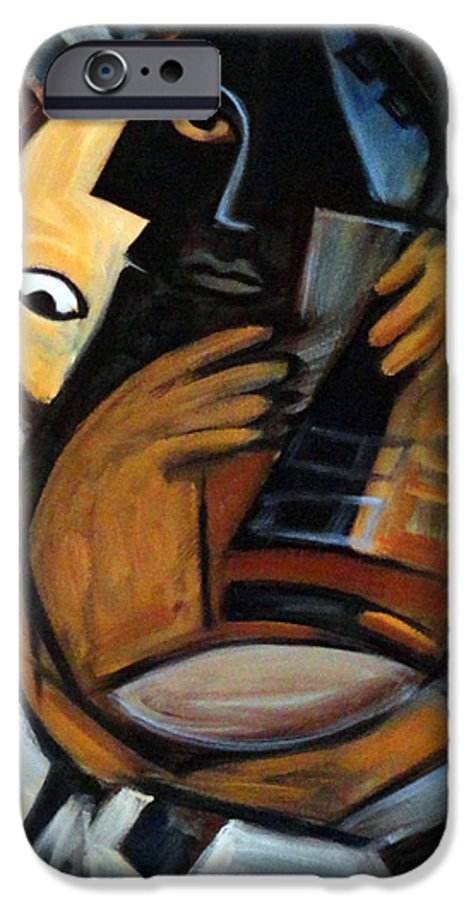 Cubism IPhone 6 Case featuring the painting Guitarist by Valerie Vescovi