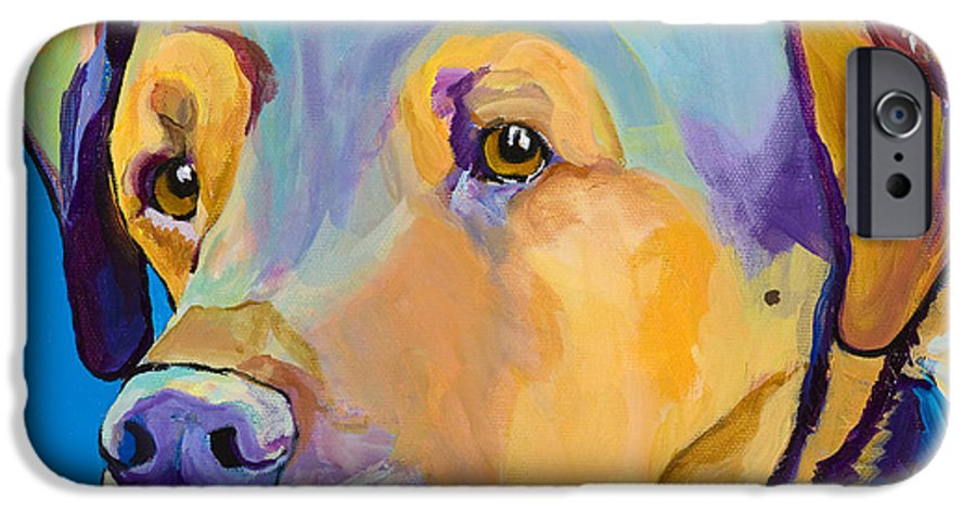 Dog Portrait IPhone 6 Case featuring the painting Gunner by Pat Saunders-White