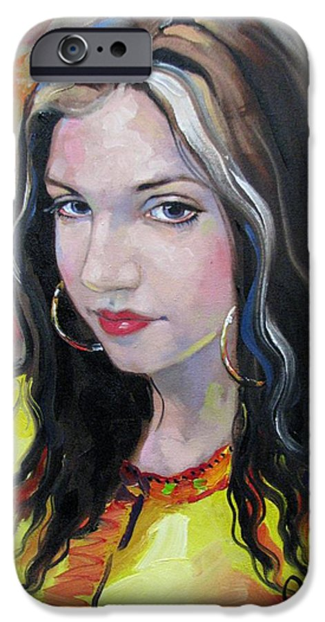 Gypsy IPhone 6 Case featuring the painting Gypsy Girl by Jerrold Carton