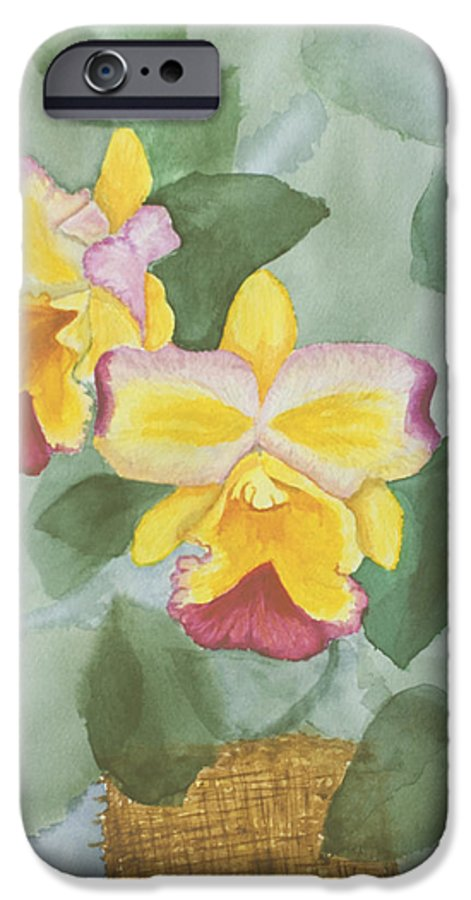 Orchids IPhone 6 Case featuring the painting Gypsy Orchids by Peggy King