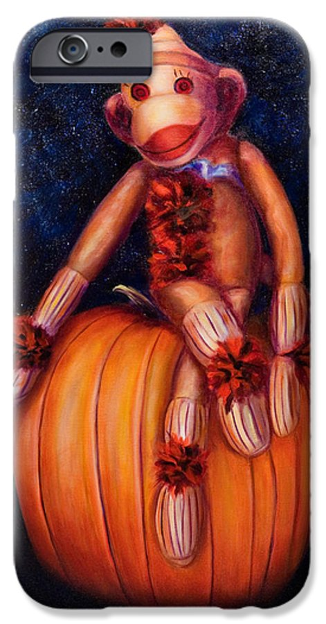 Pumpkin IPhone 6 Case featuring the painting Halloween by Shannon Grissom