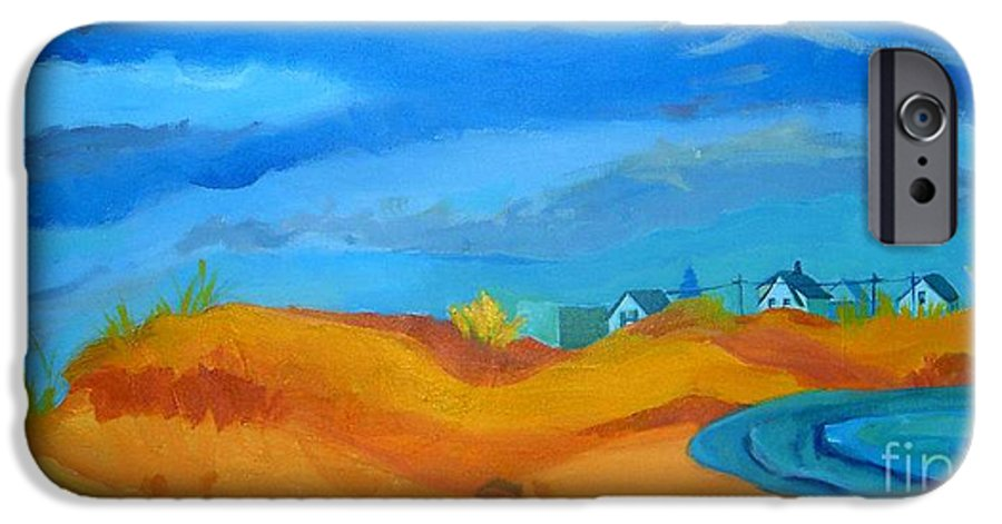 Ocean IPhone 6 Case featuring the painting Hampton Dunes by Debra Bretton Robinson