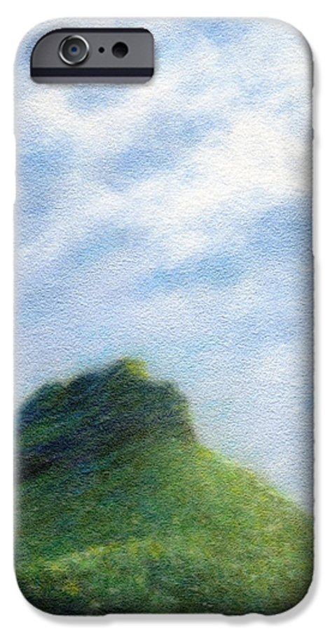 Rainbow Colors Pastel IPhone 6 Case featuring the painting Hanakapia Beach View by Kenneth Grzesik