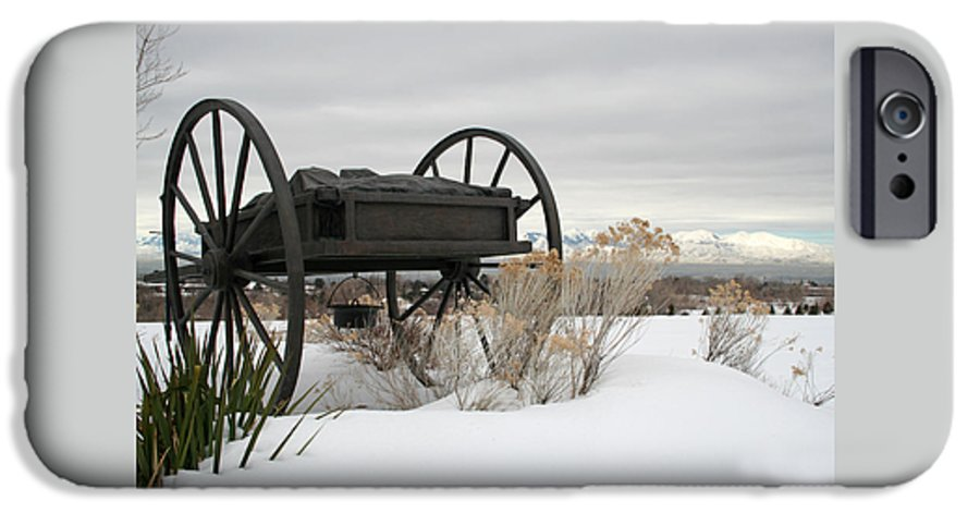 Handcart IPhone 6 Case featuring the photograph Handcart Monument by Margie Wildblood