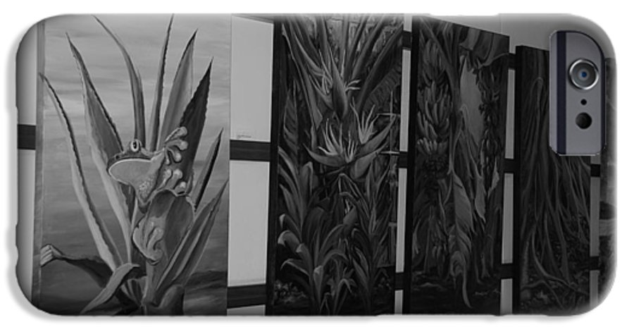 Black And White IPhone 6 Case featuring the photograph Hanging Art by Rob Hans