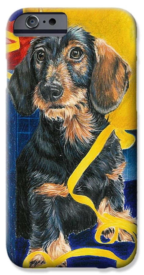 Dogs IPhone 6 Case featuring the drawing Happy Birthday by Barbara Keith