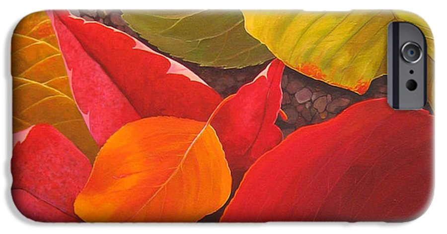 Autumn Leaves IPhone 6 Case featuring the painting Happy Landings by Hunter Jay