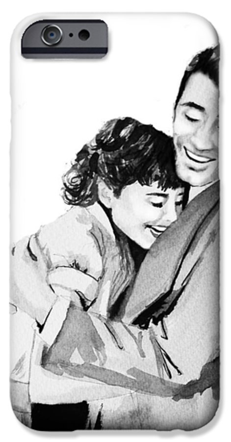 Hug IPhone 6 Case featuring the painting Happy by Laura Rispoli