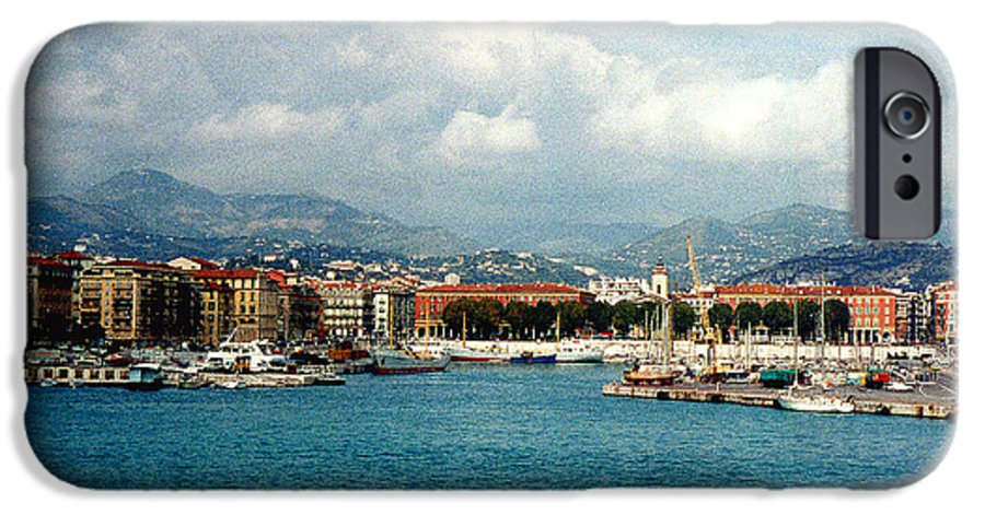 Landscape IPhone 6 Case featuring the photograph Harbor Scene In Nice France by Nancy Mueller