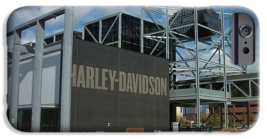 IPhone 6 Case featuring the photograph Harley Museum by Anita Burgermeister