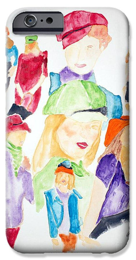 Hats IPhone 6 Case featuring the painting Hats by Shelley Jones