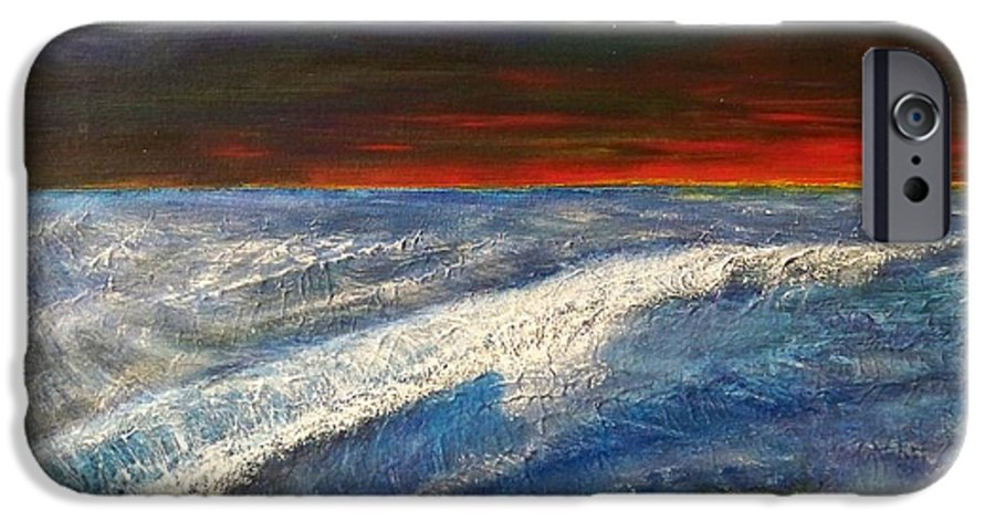 Beaches IPhone 6 Case featuring the painting Hawiian View by Michael Cuozzo