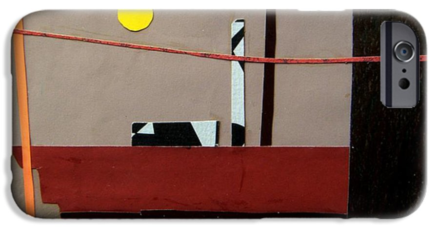 City IPhone 6 Case featuring the mixed media Hazy Rooftops 2 by Debra Bretton Robinson
