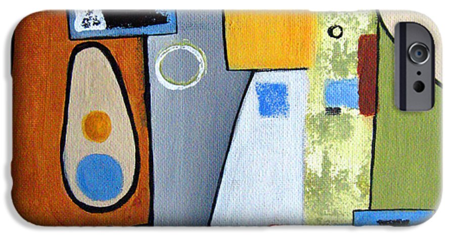 Abstract IPhone 6 Case featuring the painting Headspin II by Ruth Palmer