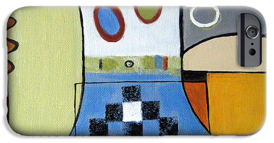 Abstract IPhone 6 Case featuring the painting Headspin by Ruth Palmer