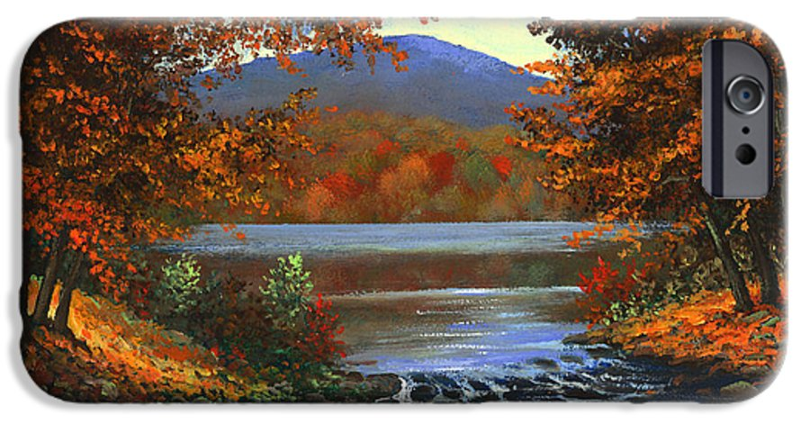 Landscape IPhone 6 Case featuring the painting Headwaters by Frank Wilson
